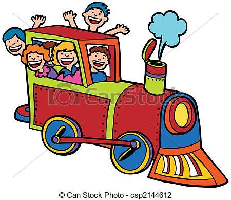 Train clipart colored #3
