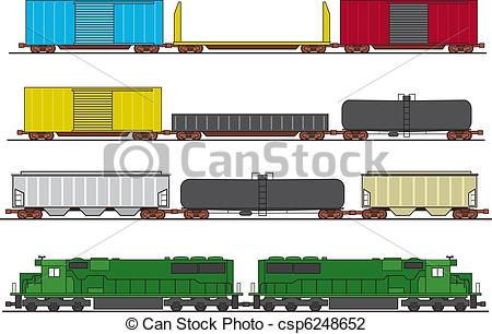 Locomotive clipart freight train Freight Freight Illustration  of
