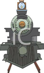 Locomotive clipart front Clipart a Front Front Train