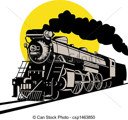 Locomotive clipart front Of Illustration Vintage Illustration Stock