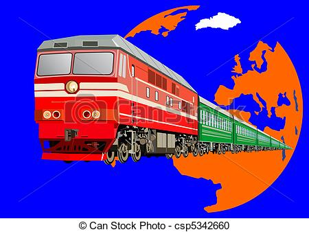 Train clipart passenger train #13