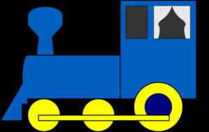 Locomotive clipart long train Clip art  Train Simple