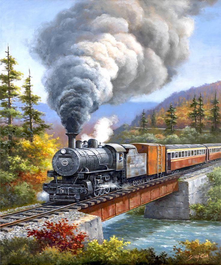 Locomotive clipart number train Plaid Steam Paint on trains