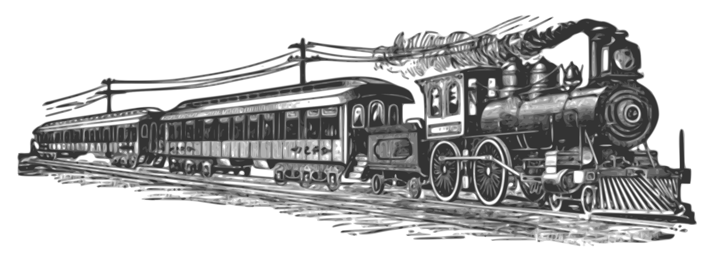 Railways clipart steam engine #7