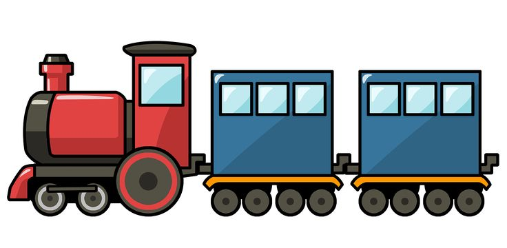 Train clipart cute #3