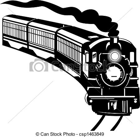 Railways clipart vintage train #1
