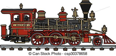 Locomotive clipart steam Drawing Classic steam csp30378658 american