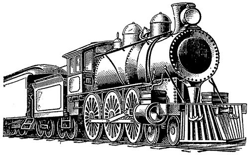 Railways clipart locomotive Old tender Time and steam