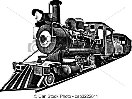 Railways clipart locomotive American Vector image Art ages
