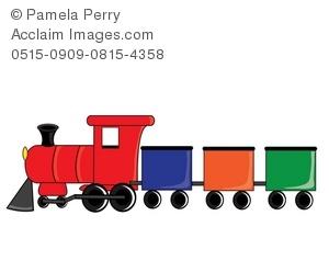 Locomotive clipart train cart Illustration Train Train Illustration a