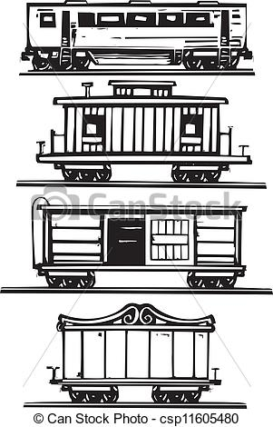 Locomotive clipart train cart Railroad Collection Train of Collection