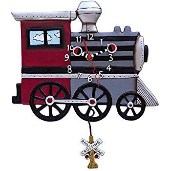 Locomotive clipart train cart Locomotive  Choo Clock Wall