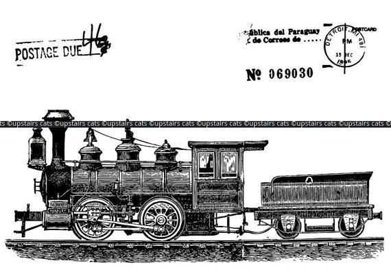 Locomotive clipart vintage train Antique Locomotive Train Clipart Download