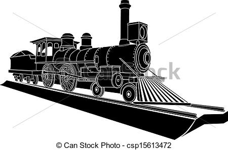Steam clipart old train Of Monochrome steam old Vectors
