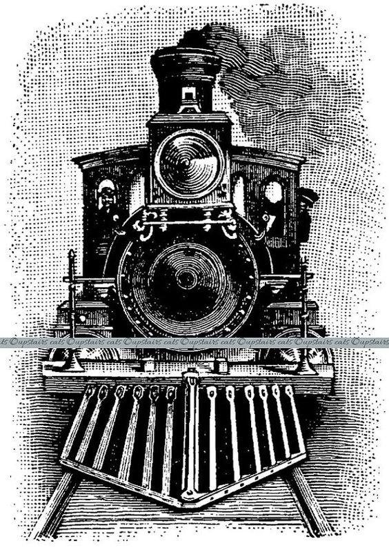 Locomotive clipart vintage train Cliparts Train on Art Train