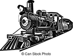 Locomotive clipart vintage train Graphics Vector train Steam Clipart