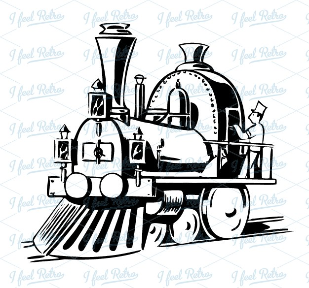 Steam clipart steam locomotive Authentic Clipart:  steam locomotive