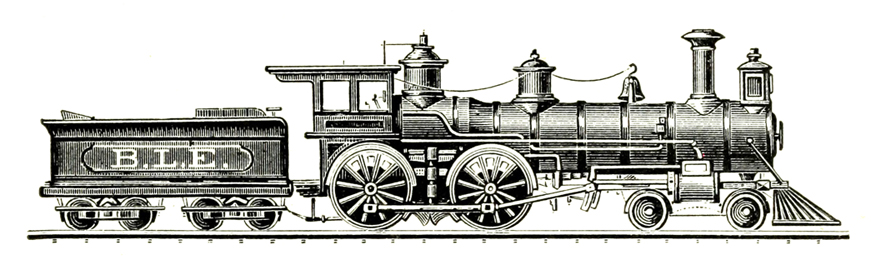Railways clipart vintage train #2