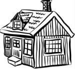 Lodge clipart winter scene Clipart Resolution  150x138 Lodge