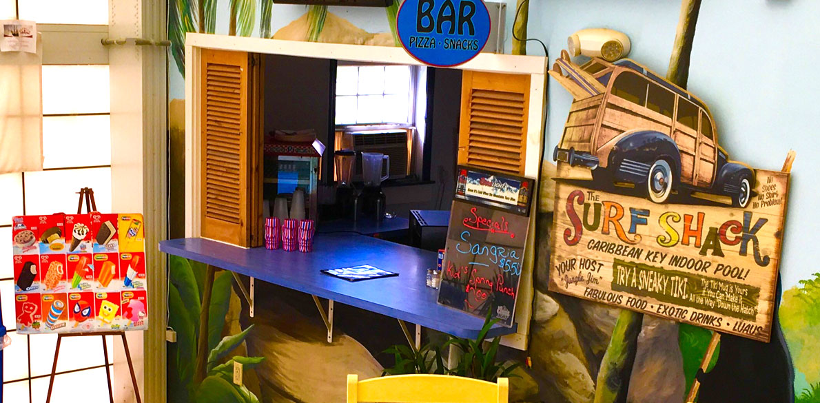 Lodge clipart surf shack Three and beach With Pool
