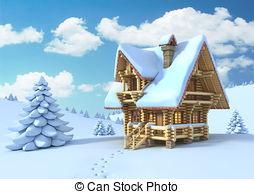Lodge clipart winter scene Winter Art Illustrations 066; winter