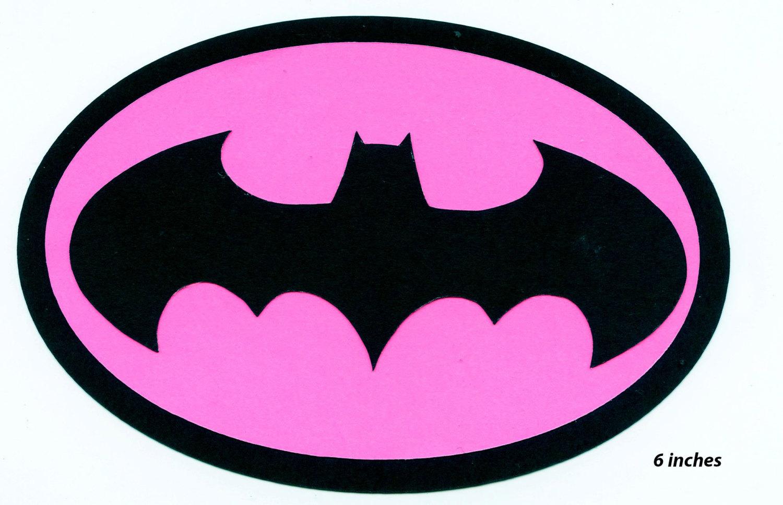 Pink clipart batgirl Batgirl logo Etsy Logo Scrapbook