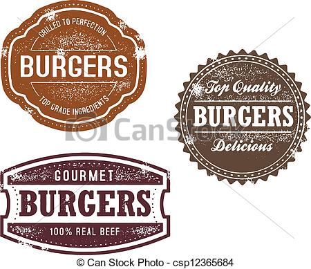 Logo clipart burger A Vintage style  of