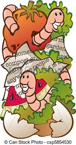 Worm clipart compost heap Clipart Illustration Vector  Worm