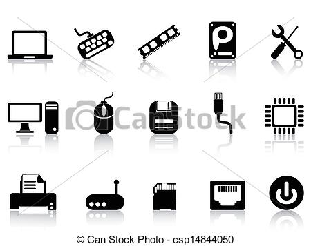 Technology clipart computer hardware Csp14844050 isolated set Clipart Computer