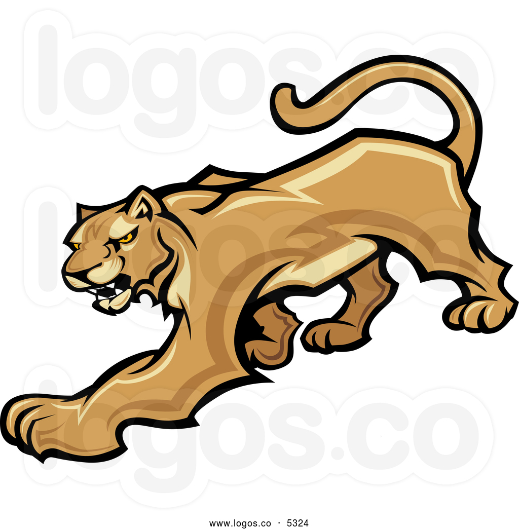 Logo clipart cougar Free  Logo Prowling Collection