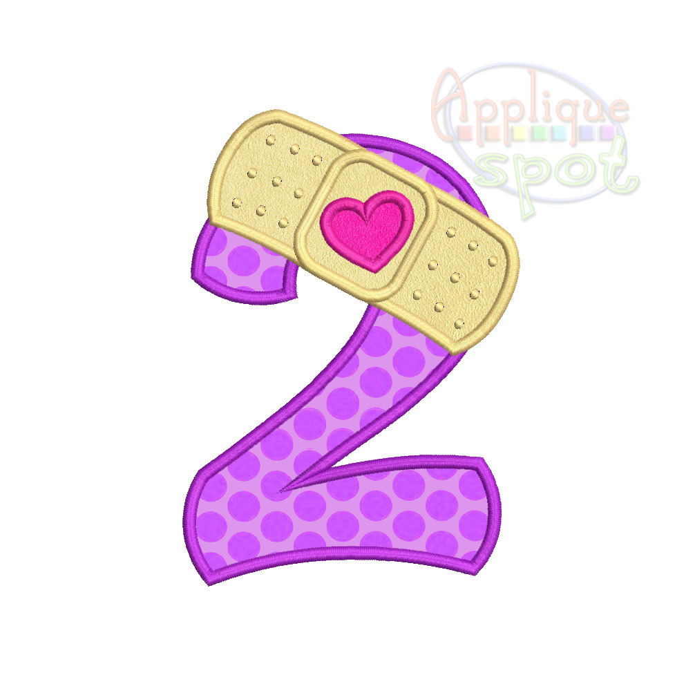 Number clipart doc mcstuffins Nd Second Bandaid Number Birthday