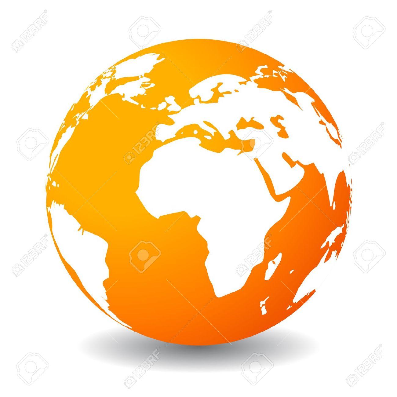 Logo clipart earth Free Clipart Globe Orange Free