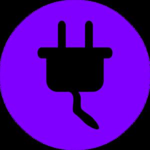 Electrical clipart christmas Clip Purple black com Electricity