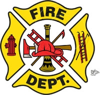 Firefighter clipart emblem #4