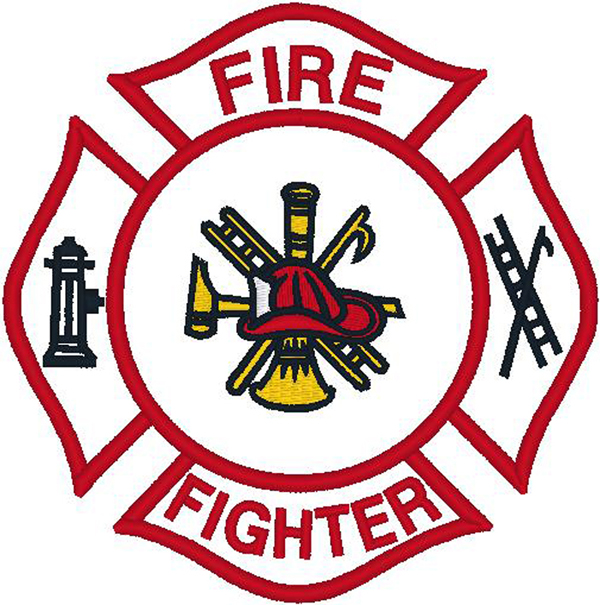 Firefighter clipart logo Clipart Embroidery Logo Embroidery Firefighter