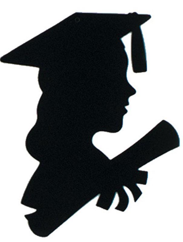 Shadow clipart graduation #6