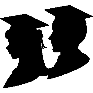 Shadow clipart graduation #7