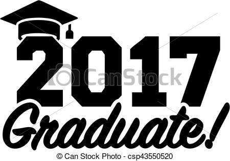 Logo clipart graduation  csp43550520 hat 2017 with