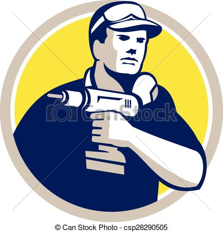 Logo clipart handyman Power csp28290505  Retro Handyman