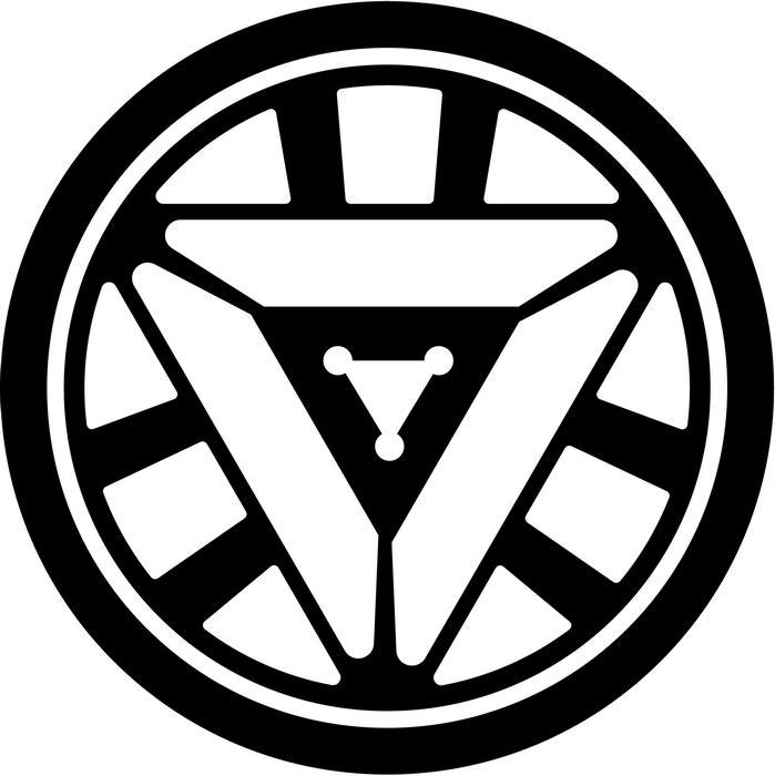Logo clipart iron man Sticker  Reactor Decal Man