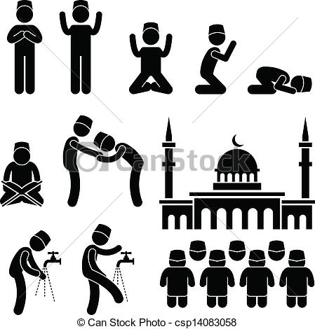 Culture clipart black and white Religion Islam people of Religion