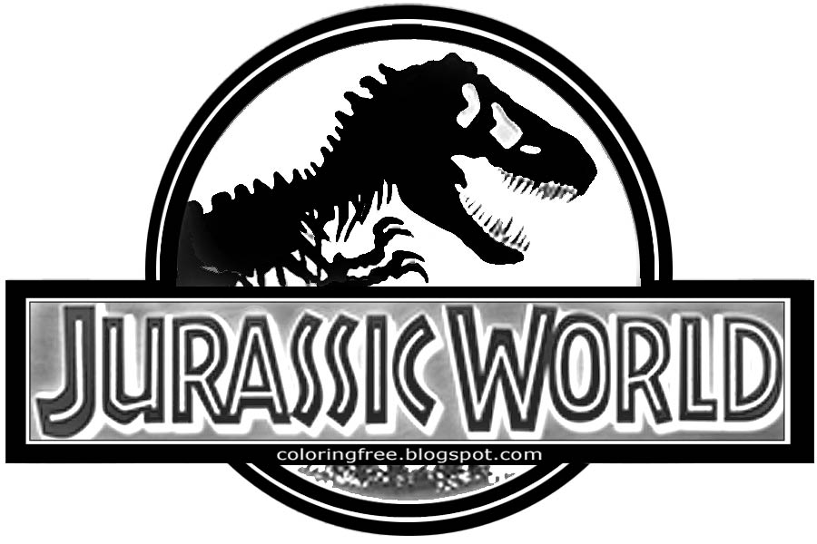 Logo clipart jurassic world Movie coloring logo page dinosaurs