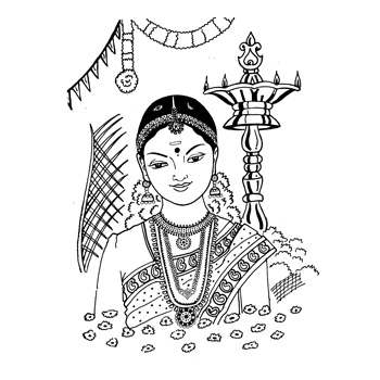 Black & White clipart hindu wedding Clipart Logos Wedding Indian –