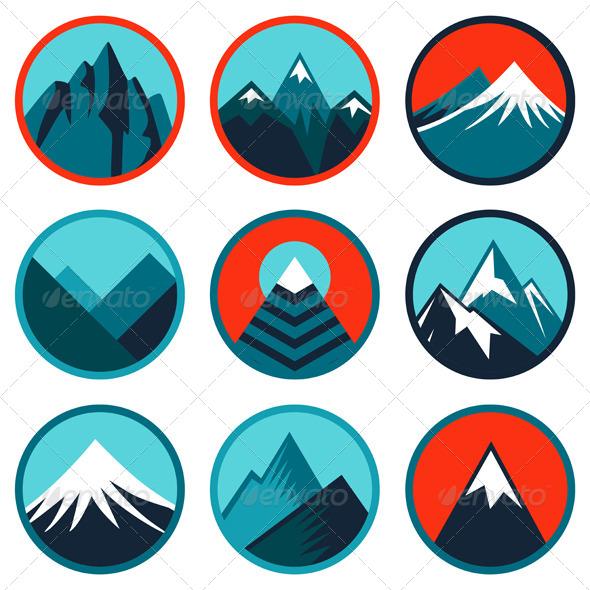 Abstract clipart mountain Logo  Mountain Clipart Abstract