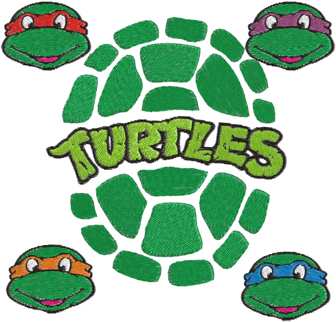 Ninja Turtles clipart logo Embroidery Design Turtle Design you