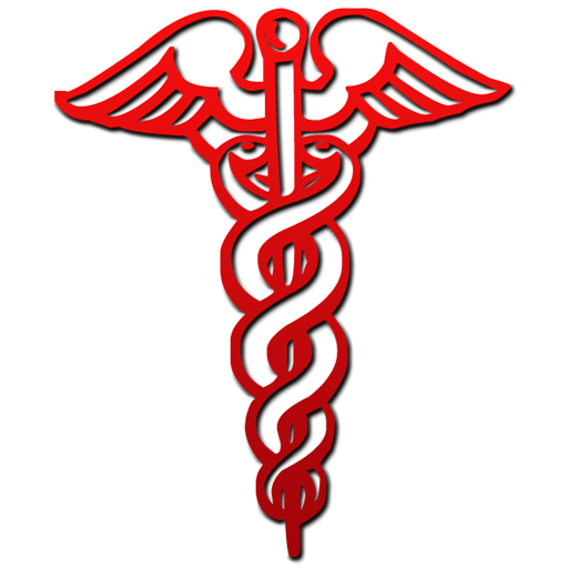 Red Cross clipart medical sign  Red Clip of Caduceus