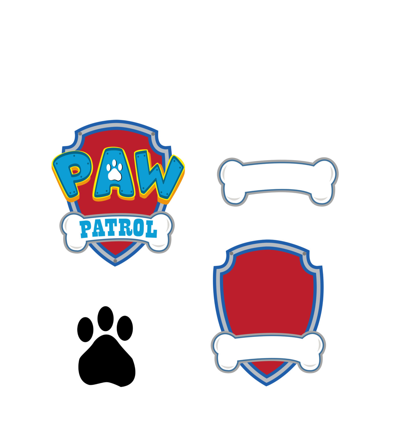 Logo clipart paw patrol EPS Patrol download digital