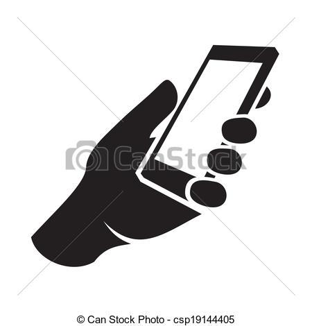 Phone clipart mobile logo Of illustration hand Mobile Vector