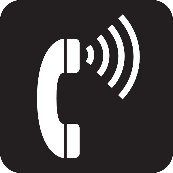 Phone clipart telephone logo Image vector Black Art as: