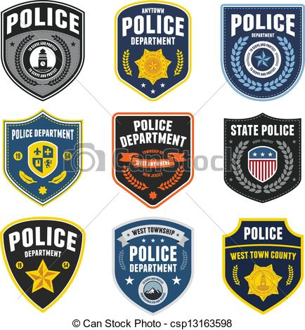 Logo clipart police badge Csp13163598 police law EPS patches